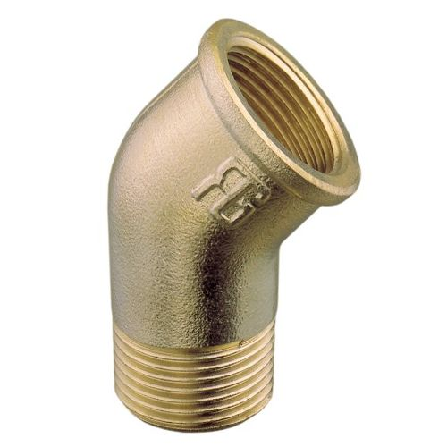 45 Degree Male to Female Brass Elbow BSP Connector