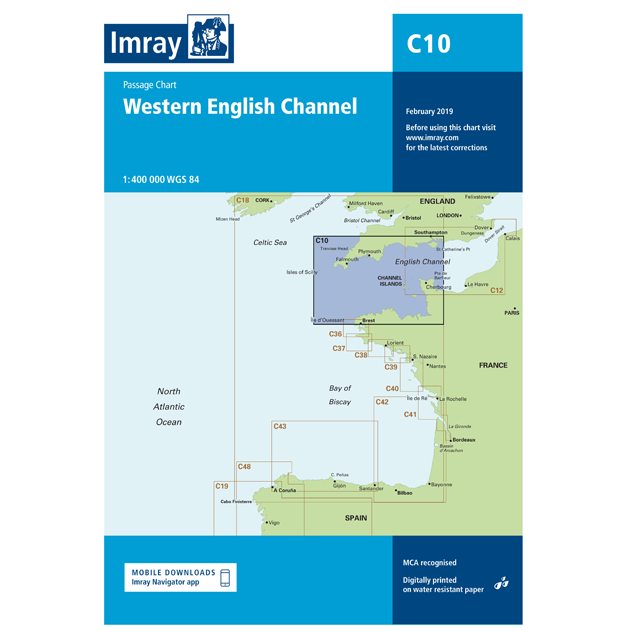 Imray C10 Western English Channel Passage Chart