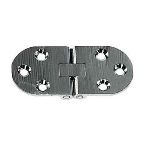 Pack of 2 Chromed Brass Double Axle Hinges 67mm x 30mm