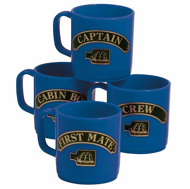Set of 4 Stackable Unbreakable Mugs That Show Rank
