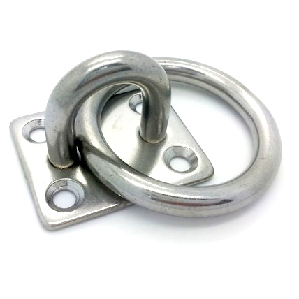 Stainless Steel Eye Plate with Ring - 35mm x 30mm
