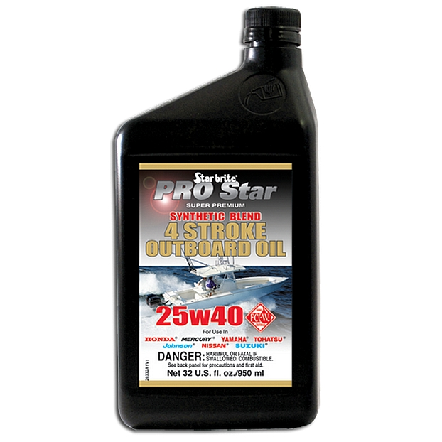 Starbrite Pro Star Super Premium Synthetic Blend 4 Stroke 25w40 Outboard Oil