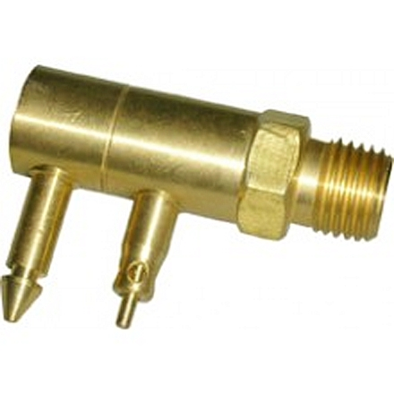 "Waveline Honda Male 2 Prong Brass Tank Connector - 1/4"" NPT Threads"
