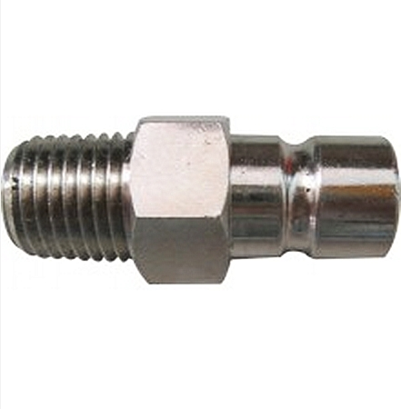 "Waveline Honda Male Fuel Tank Connector Nickel Plated Brass - 1/4"" NPT Bayonet"