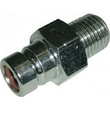 "Waveline Suzuki (Over 75 HP) Male Straight Brass / Nickel Plated Tank Fitting - 1/4"" NPT"