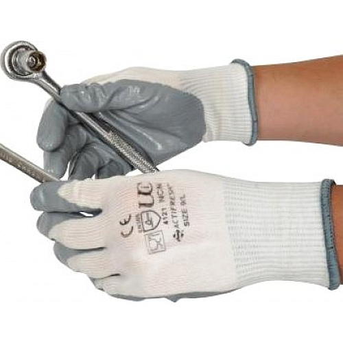 Nitrile Gripper Gloves