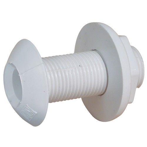 White Nylon BSP Threaded Skin Fitting